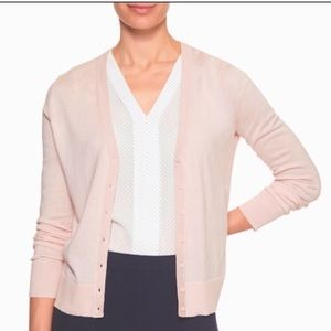 Banana Republic Blush Pale Pink V-neck Cardigan.